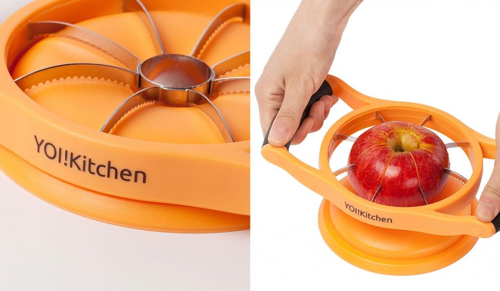 Apfelschneider YOI!Kitchen mit Schutzkappe